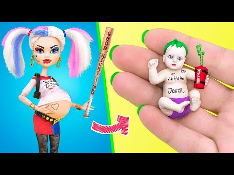 10 DIY Baby Doll Hacks and Crafts / Miniature Baby, Cradle, Diapers and More!