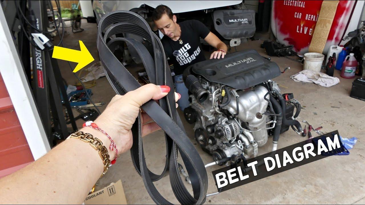 DODGE DART SERPENTINE BELT DIAGRAM AND REPLACEMENT - YouTubeYouTube