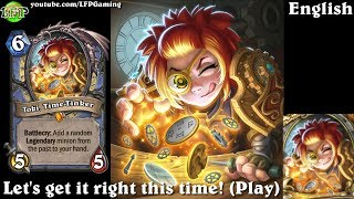 Hearthstone: Toki, Time Tinker card sounds in 14 languages -Witchwood Legendary