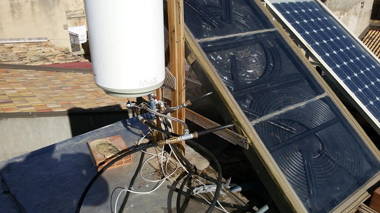 acqua calda gratis dal sole impianto solare termico auto costruito youtube