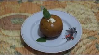 Домашние видео рецепты - запеченные яблоки c творогом в мультиварке