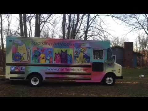 Sparkling ARTMOBILE Stepvan Conversion Mobile Gallery Art Boutique
