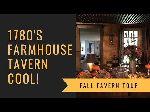 1780's Farmhouse FALL New England Colonial Keeping Room Tour!