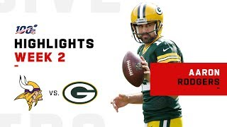Aaron Rodgers Throws 2 TDs for 2-0 Record