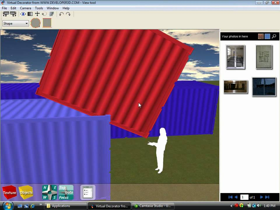 Shipping container home design software tutorial 4 youtube for Container house design software
