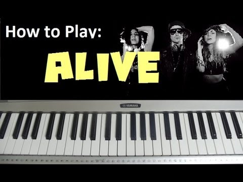 """How to Play """"Alive"""" by Krewella - Piano Tutorial & Lesson (HD)"""