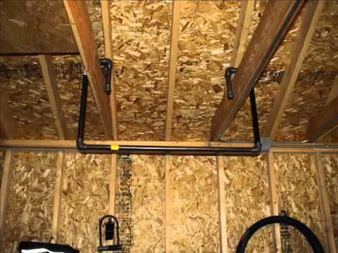 Make a homemade garage pull up bar chin up bar - YouTube