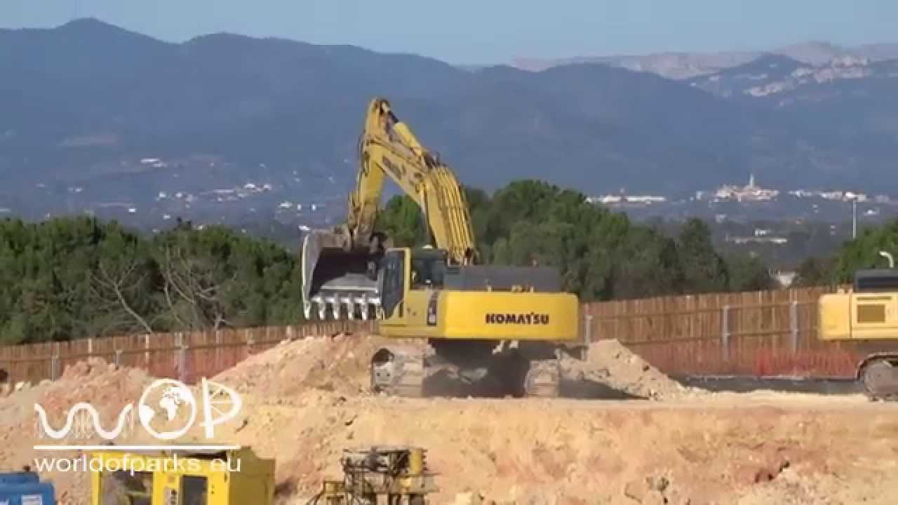 ferrari land port aventura baustelle construction 2015 themenpark youtube. Black Bedroom Furniture Sets. Home Design Ideas