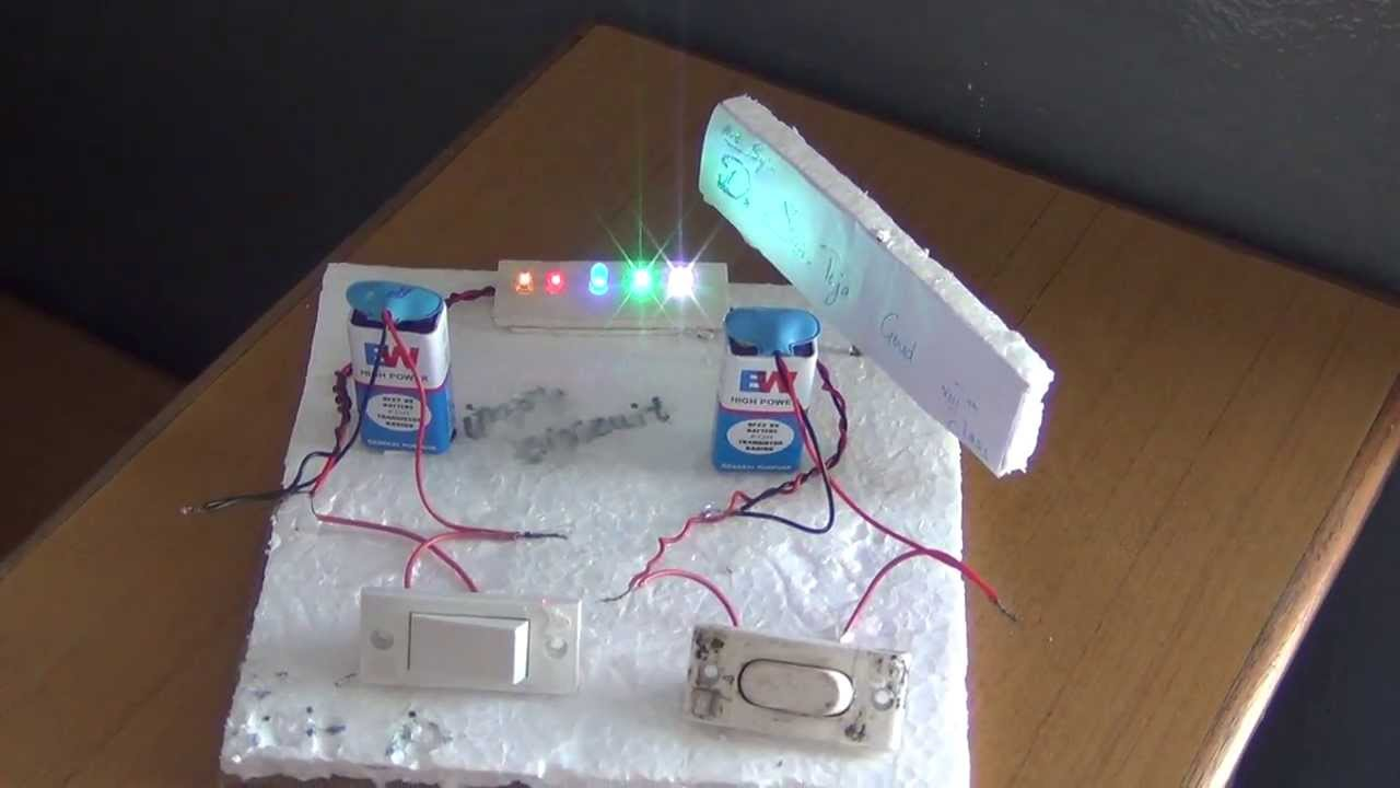 Science Projects By Class 8 Students 05 Simple Circuit Youtube Diagrams For Kids