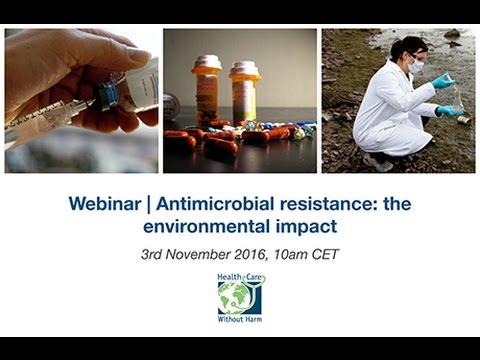 Webinar | Antimicrobial resistance: the environmental impact