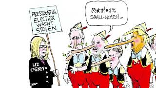 5 brutally funny cartoons about the GOP's shunning of Liz Cheney