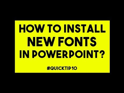 How To Install Fonts In PowerPoint 2016 - #QuickTip10