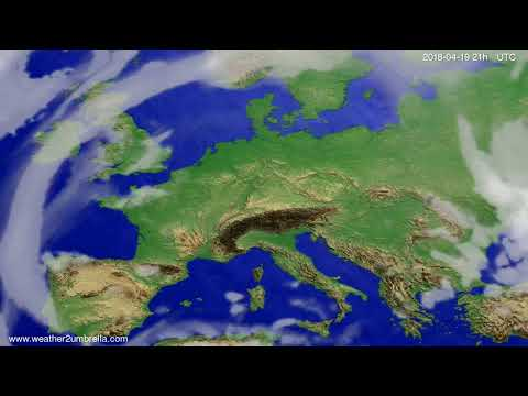 Cloud forecast Europe 2018-04-16