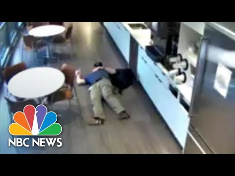 WATCH: New Jersey Man Fakes Fall After Throwing Ice Cubes On Ground | NBC News