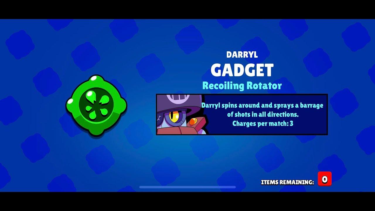 BUYING DARRYL'S GADGET IN BRAWL STARS - YouTube