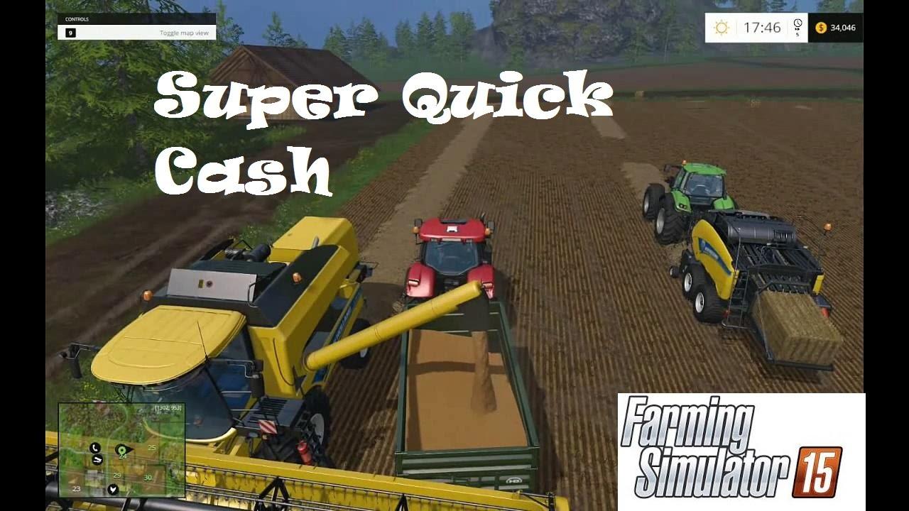 farming simulator 2015 how to put money