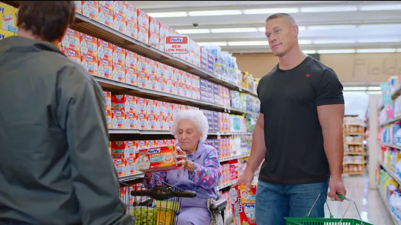 John Cena Hefty Ultra Strong Tv Commercial Hefty Wimpy Youtube