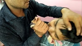 Indian Barber- Short Head Massage (Neck Crack) | ASMR