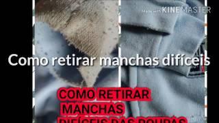 RETIRANDO MANCHAS DIFÍCEIS DE ROUPAS COLORIDAS