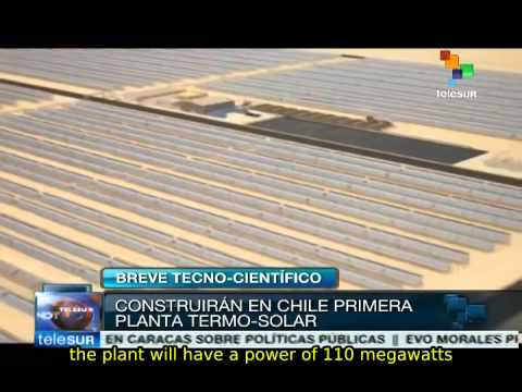 Spanish company is building a thermo-solar plant in Chilean desert