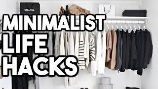 MINIMALIST LIFE HACKS! How To Live a Minimalist Lifestyle! thumbnail