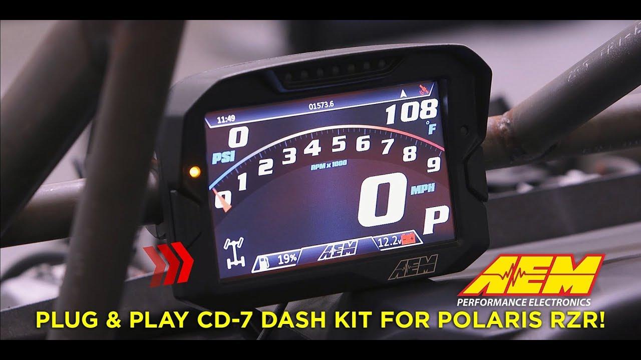 AEM Releases Polaris RZR Plug & Play CD-7 Digital Dash Kit! | AEM