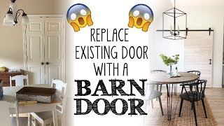 How to Replace an Existing Door with a Barn Door