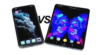 iPhone 11 Pro Max vs Galaxy Fold!