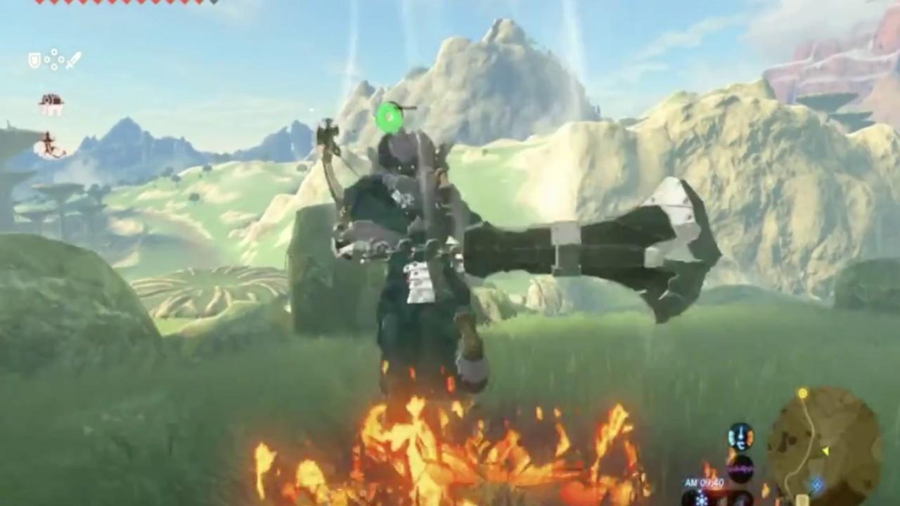 Zelda Hd Wallpaper ゼルダの伝説ブレス オブ ザ ワイルド獣王の大剣を持った闘牛モンスターと戦闘で苦戦〜!the Legend Of