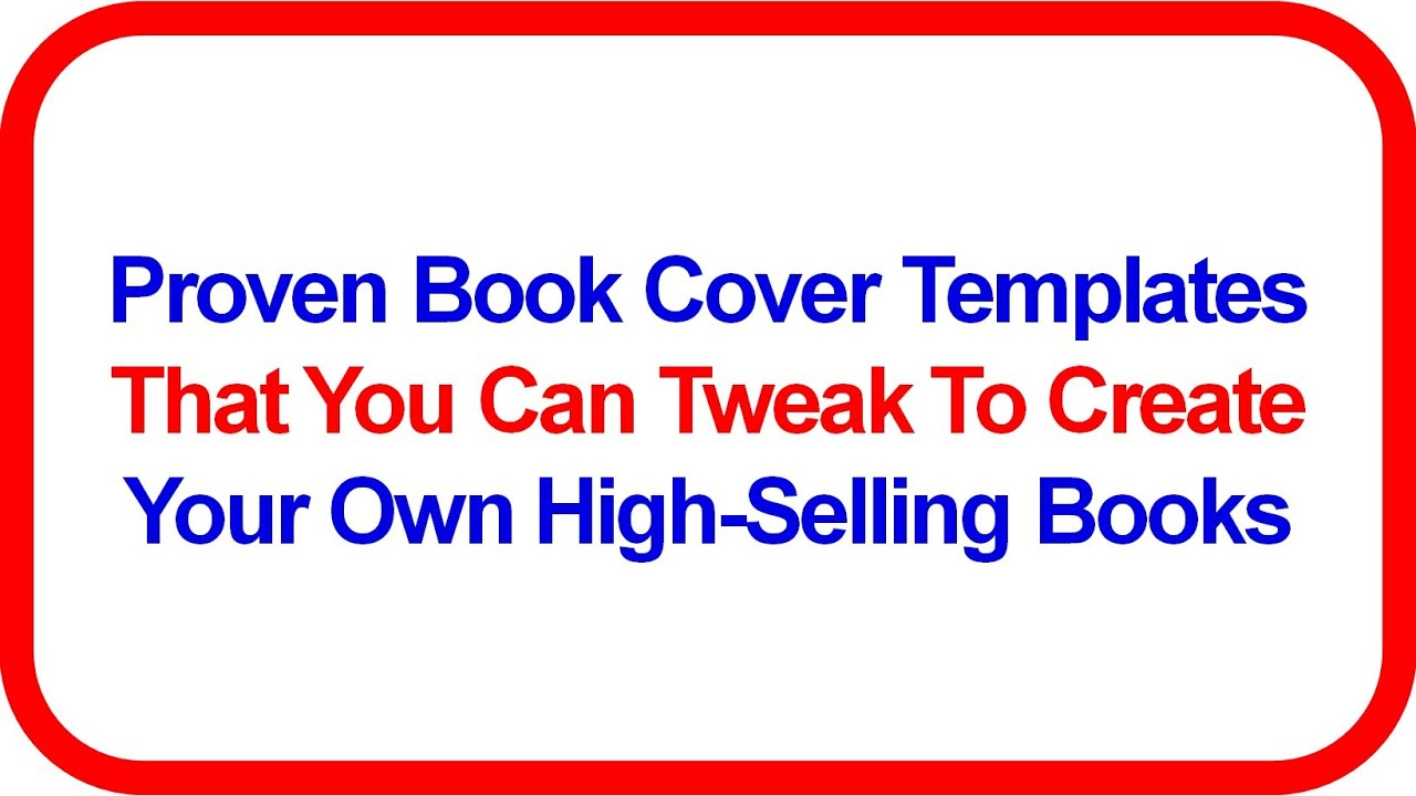 Book Cover Template Maker ~ Ebook cover generator w proven covers free book