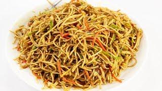 व्हेज हक्का नूडल्स की रेसिपी - hakka noodles asli indian veg hindi recipe  - cookingshooking