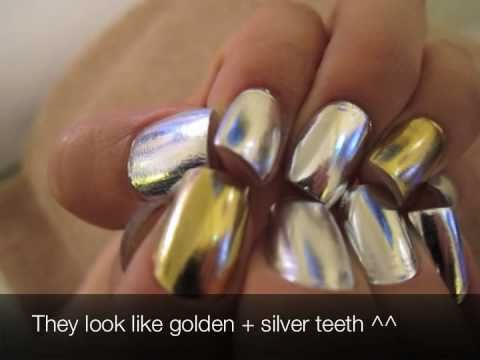 Metallic Nail Plastic Surgery -- MINX Nails  !!★金屬美甲★