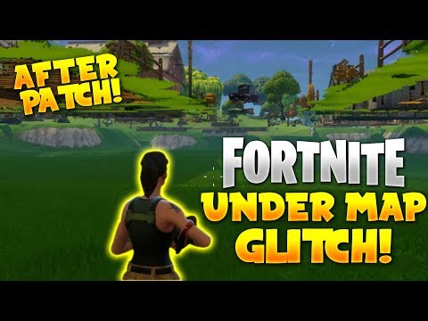 NEW FORTNITE UNDER THE MAP GLITCH! *AFTER PATCH*   How To Get Under The Map (Fortnite Battle Royale)
