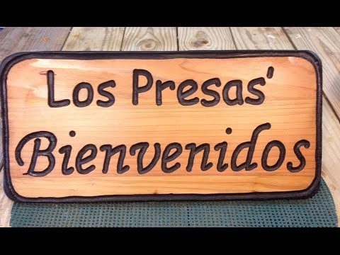 Carve a WELCOME sign in wood!
