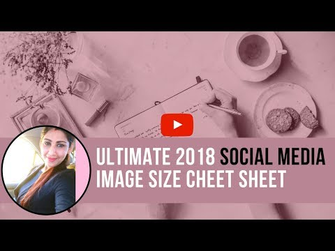 Social Media Success By Social Media Image Size Cheat Sheet |