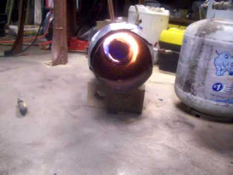 Completed Homemade Propane Forced Air Heater  YouTube
