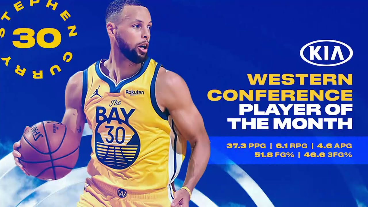 Stephen Curry Named Western Conference Player of the Month for April 🏆