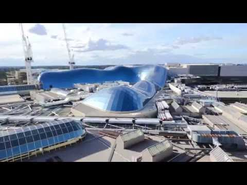 Chadstone The Fashion Capital: Gridshell roof timelapse