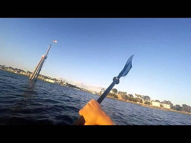 Kayaking Long Beach on my payette 116