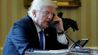 Президент США провёл телефонные переговоры с лидерами пяти стран(Президент США Дональд Трамп провёл в субботу телефонные переговоры с лидерами пяти стран – России, Германи..., 2017-01-29T08:58:55.000Z)