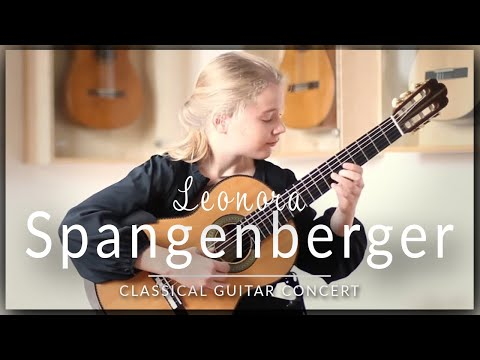 Leonora Spangenberger (age 11) - Full Classical Guitar Concert at Siccas Guitars - J.S Bach, Legnani