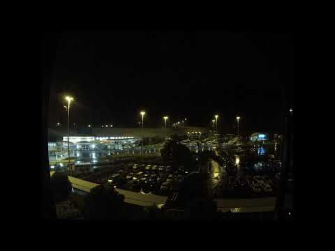 Timelapse - Looking out the Window of the Hotel @ Auckland Airport... 13th December 2014 #3  @Night