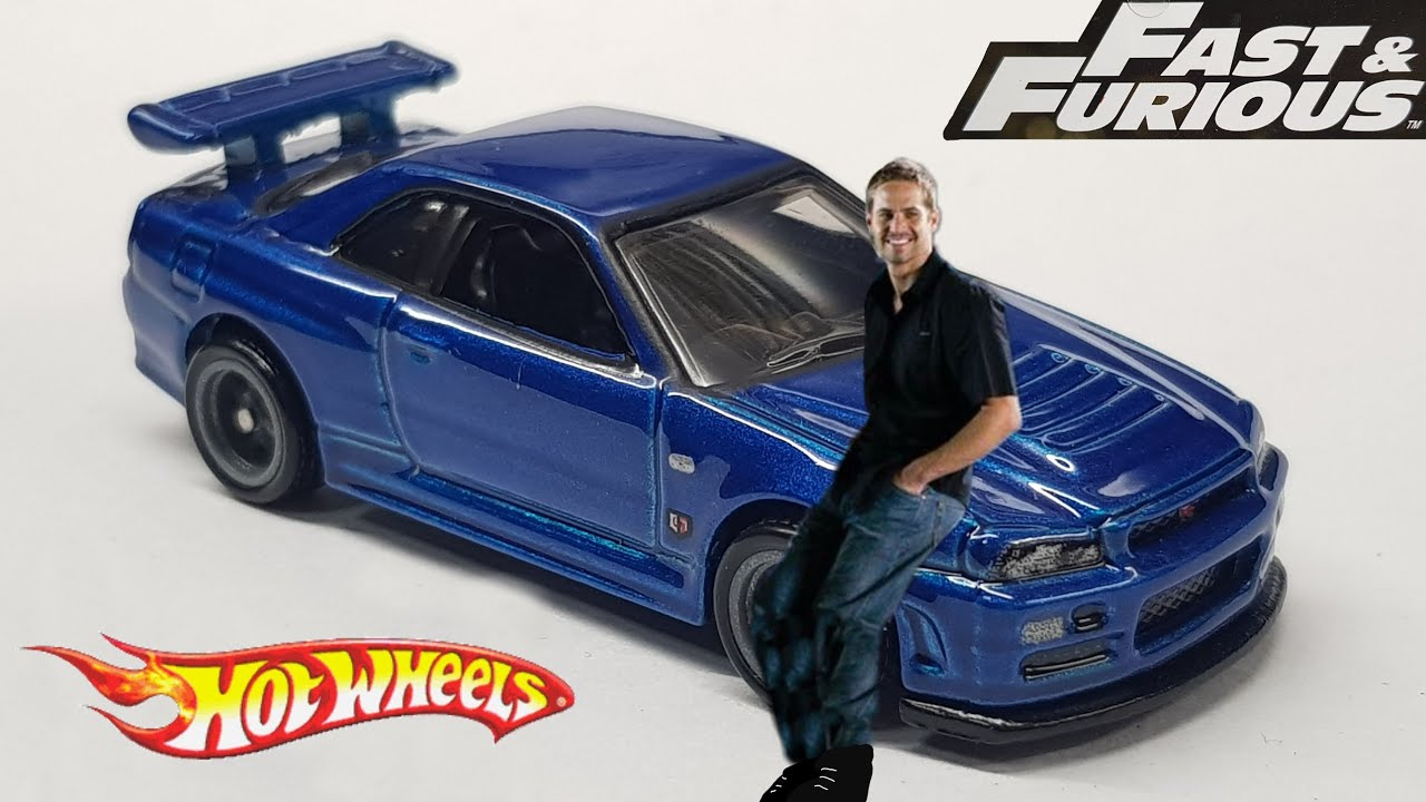 Fast And Furious Nissan Skyline Gt R R34 Hot Wheels Review Youtube