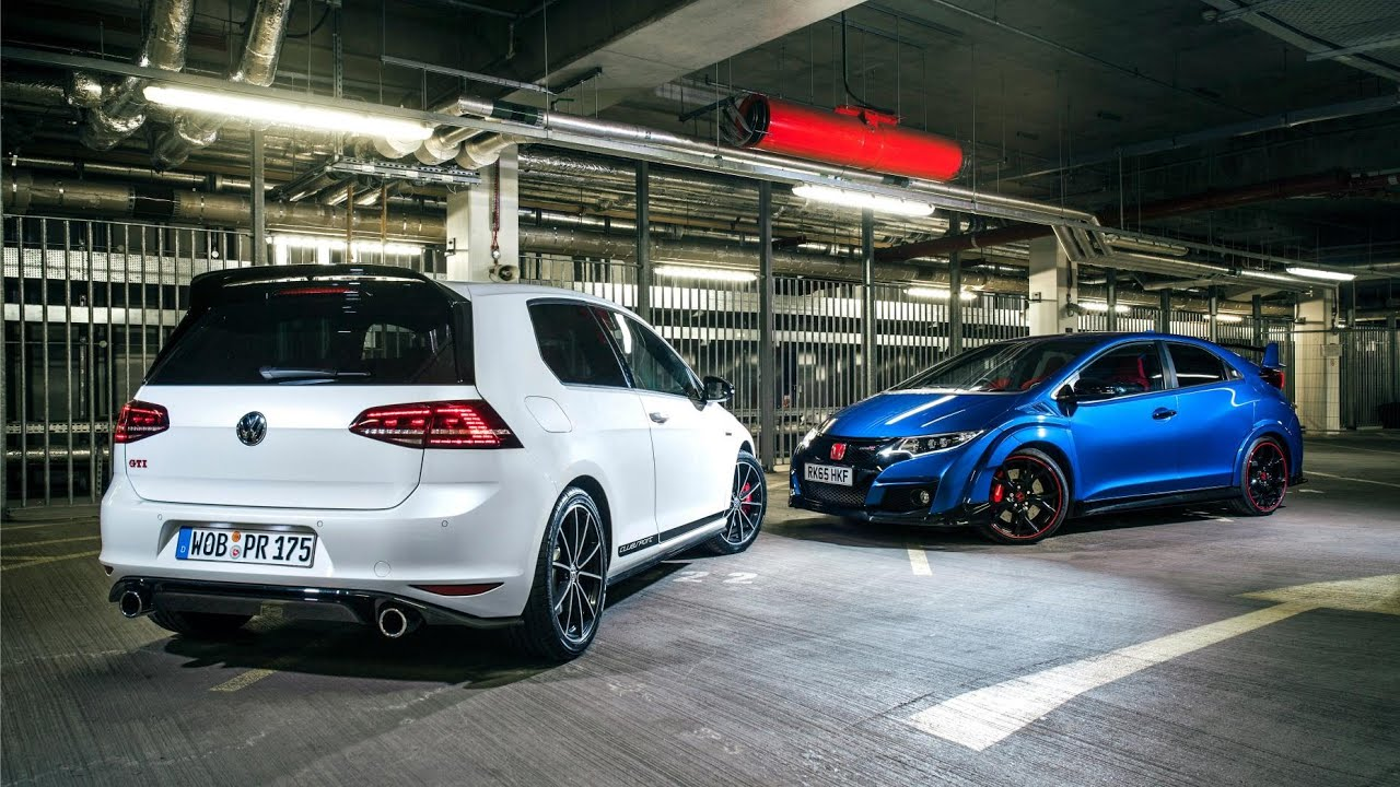 volkswagen golf gti clubsport vs honda civic type r youtube. Black Bedroom Furniture Sets. Home Design Ideas
