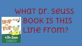 Dr Seuss Quiz