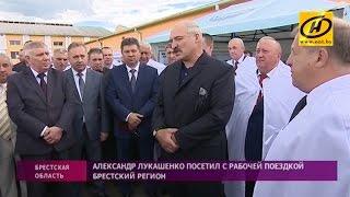 Александр Лукашенко посетил с рабочей поездкой Брестский регион