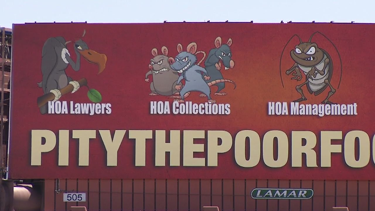 Vultures, rats and roaches featured on anti-HOA billboard