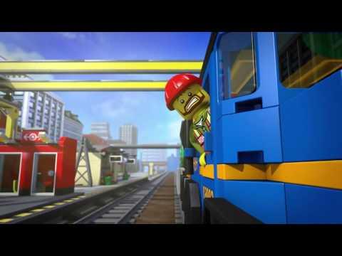 Мультфильм лего поезд