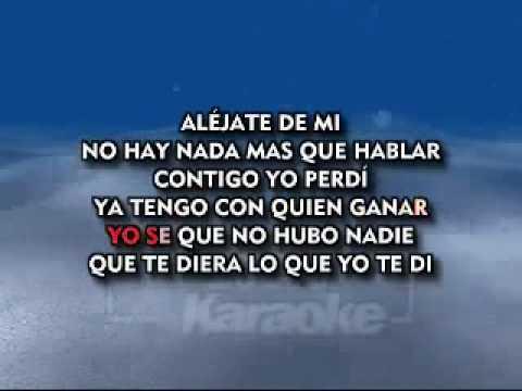 Luis Miguel - Ahora Te Puedes Marchar (karaoke).avi