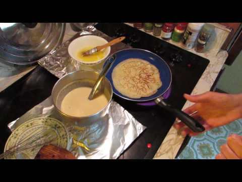CHEESE BLINTZES -  MAKING THE CREPES